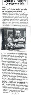 """Artikel in """"Het spoor de kampioenen' 2011"""