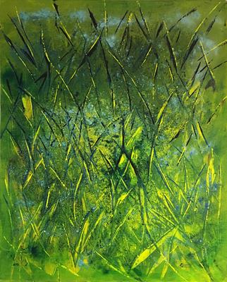 Gräser   ...   Acryl auf Leinwand   ...   80 x 100 cm