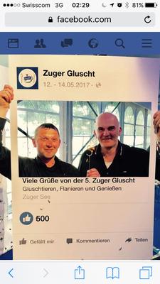 Die Macher der Jubiläumsgluscht: Vereinspräsident Claus Hofmann und Vize-Präsident und Kassier Wilfried Joos (v. r.)