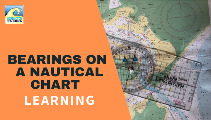 How to take a bearing from a nautical chart?