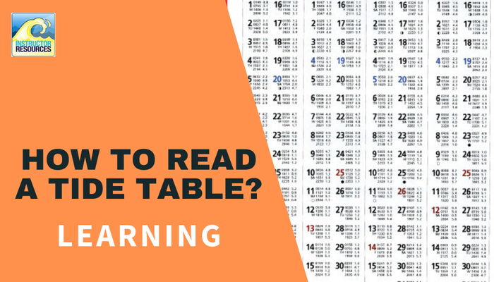 How to read a tide table?