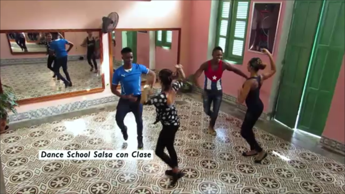 Teachers of Salsa con Clase in main dance room