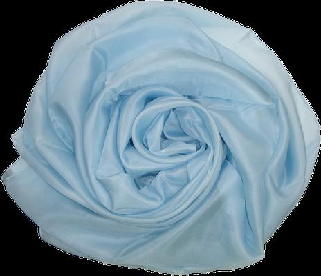opal hellblau Seidentuch Seidenschal