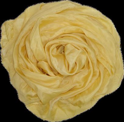 Gelb goldgelb Seidentuch Seidenschal