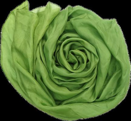 grün Heilung Seidentuch Seidenschal bio