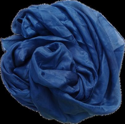 Seidentuch Seidenschal blau dunkelblau