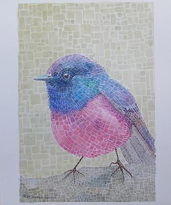 """""""Pájaro mosaico"""" 29x42cm    110€"""