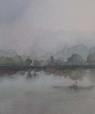 """Detalle """"Niebla en el rio"""""""