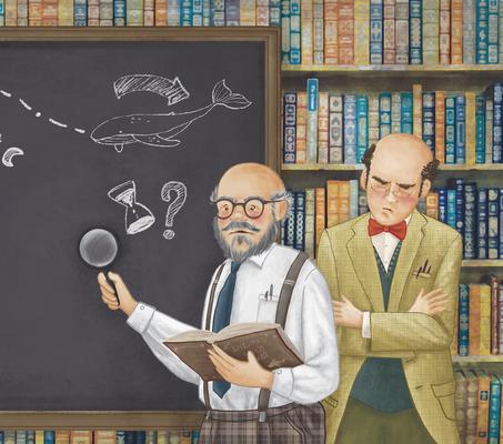 Álbum  ilustrado El enigma de las ballenas.Editorial Mr.Momo