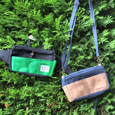 緑色のバッグ