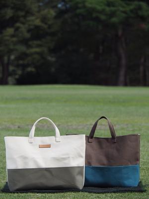 茶色に合う色のバッグ