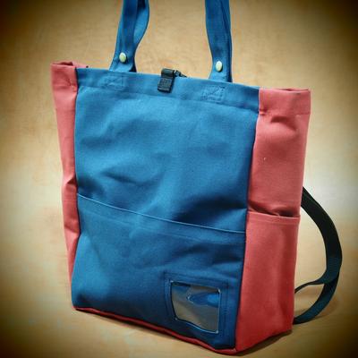 赤青トートバッグ