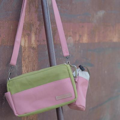 緑とピンクの組み合わせ