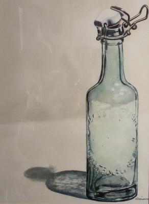 """""""Eine Flasche"""" Aquarell ca. 30x40cm"""