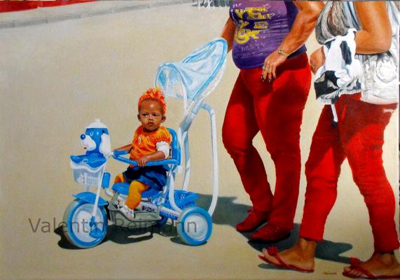Cuban Street Life 100x70cm Öl auf Leinwand 2016
