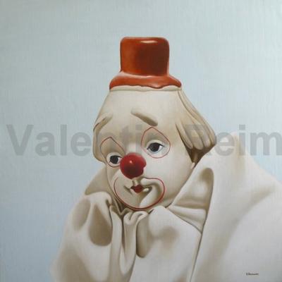 Clown 100x100cm (verk.)