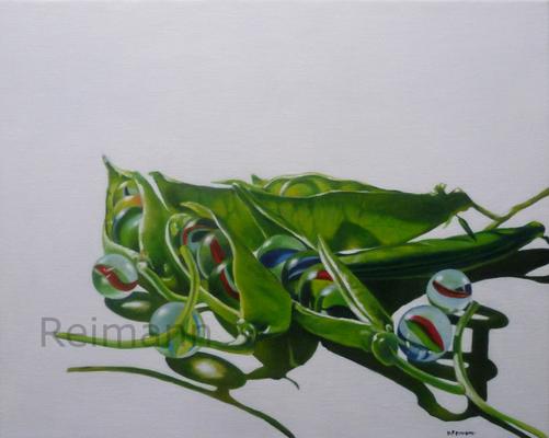 Metamorphose 2 40x50cm Öl auf Leinwand