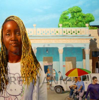 African Girl ca 80x90cm (verk.)