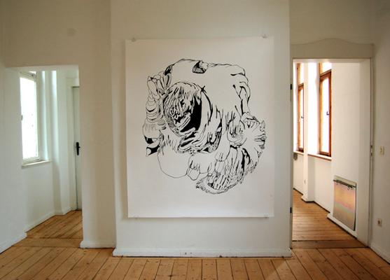 Diplomausstellung Innen/Außen, Ansicht 1, Susanne Renner, 2008 (Foto: Julia Hecht)