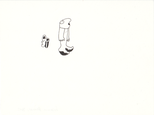 Wondering, 13 x 17,5 cm, Tuschestift auf Papier, Susanne Renner-Schulz