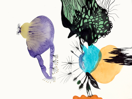Eye, 36 x 48 cm, Aquarellfarbe auf Papier, Susanne Renner, 2017