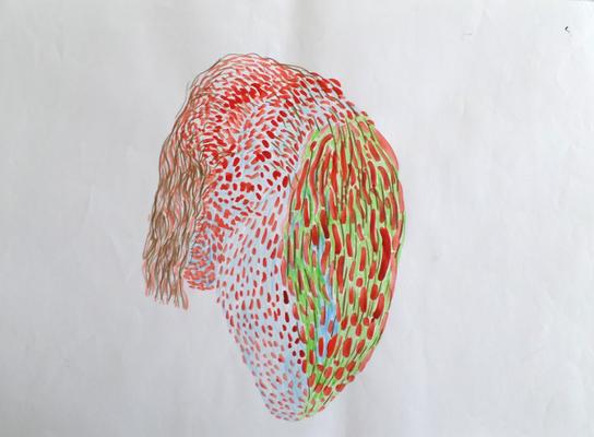 Ohne Titel, 30 x 40 cm, Mixed Media, Susanne Renner