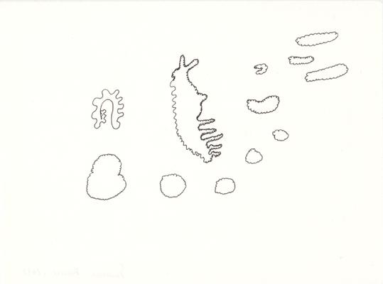 Clouds, 13 x 17,5 cm, Tuschestift auf Papier, Susanne Renner-Schulz