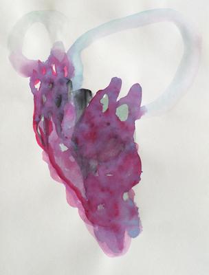 Heart Fly, 20 x 30 cm, Aquarellfarbe auf Papier, Susanne Renner, 2017