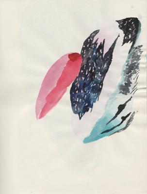 Feather, 21 x 28 cm, Aquarellfarbe auf Papier, Susanne Renner, 2015