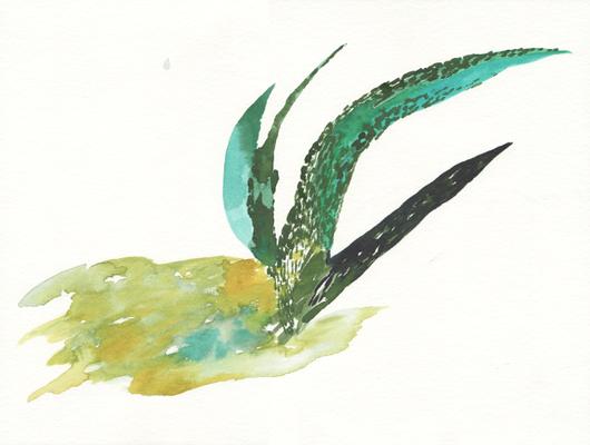 Wachsen, 24x 32 cm, Aquarellfarbe auf Papier, Susanne Renner, 2016