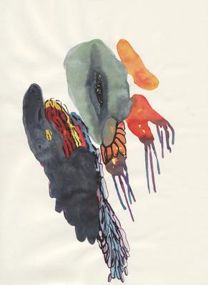 Feeling, 21 x 28 cm, Aquarellfarbe auf Papier, Susanne Renner, 2016