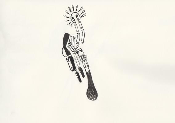Light, 20 x 30 cm, Tusche auf Papier, Susanne Renner, 2015
