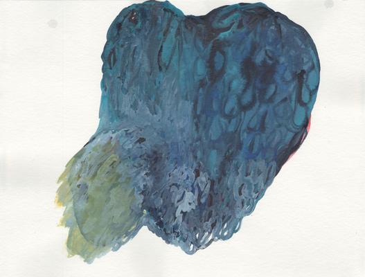 Herz, 24 x 32 cm, Aquarellfarbe auf Papier, Susanne Renner, 2016