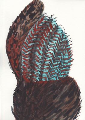 Maul, 21 x 28 cm, Aquarellfarbe auf Papier, Susanne Renner, 2016