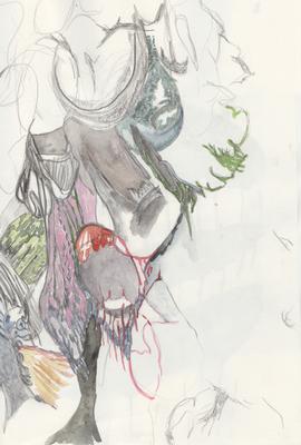 Ohne Titel, 20 x 30 cm, Mixed Media auf Papier, Susanne Renner, 2013