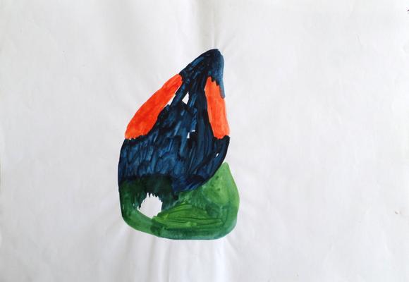 Ohne Titel, 30 x 40 cm, Acryl auf Papier, Susanne Renner