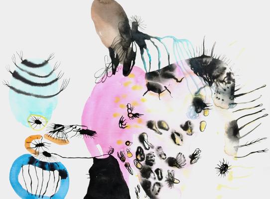 Explorers, 40 x 50 cm, Aquarellfarbe auf Papier, Susanne Renner, 2017
