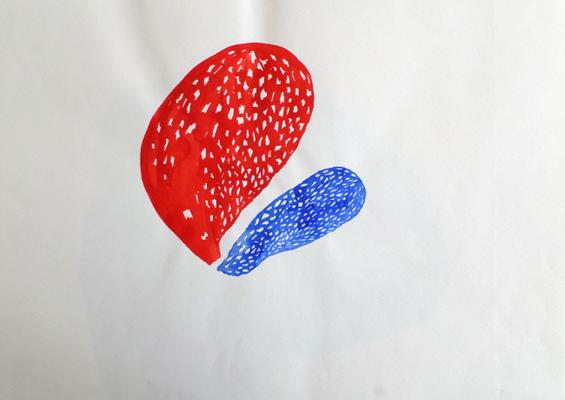 Ohne Titel, 30 x 40 cm, Tempera auf Papier, Susanne Renner