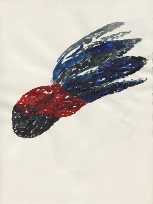 Octopus, 21 x 28 cm, Aquarellfarbe auf Papier, Susanne Renner, 2015