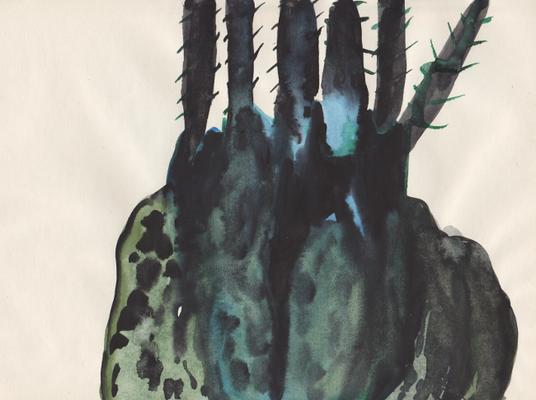 Fühler, 21 x 29 cm, Aquarellfarbe auf Papier, Susanne Renner, 2016