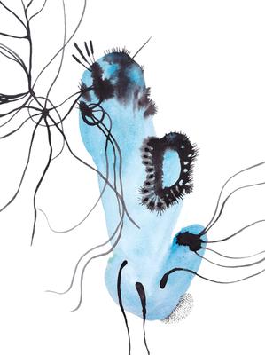 Center, 30 x 40 cm, Aquarellfarbe auf Papier, Susanne Renner, 2017