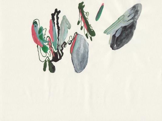 Metamorhose, 21 x 28 cm, Aquarellfarbe auf Papier, Susanne Renner, 2016