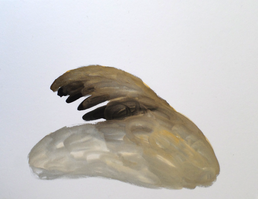 Diver, 18 x 24 cm, Aquarellfarbe auf Papier, Susanne Renner, 2015