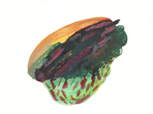 Brücke, 21 x 28 cm, Aquarellfarbe auf Papier, Susanne Renner, 2016