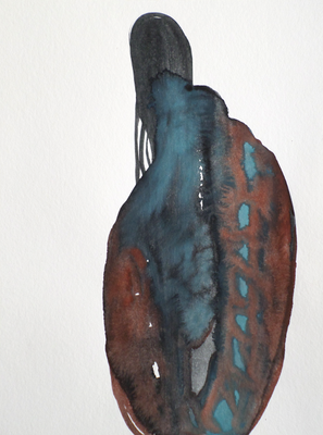 Don't look back, 20 x 30 cm, Aquarellfarbe auf Papier, Susanne Renner, 2017