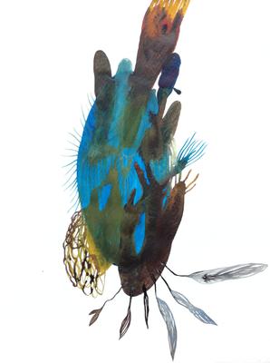 Light, 30 x 40 cm, Aquarellfarbe auf Papier, Susanne Renner, 2017