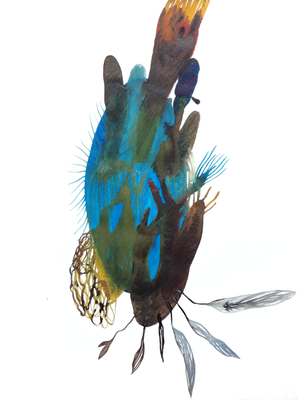 Light, 30 x 40 cm, Aquarellfarbe auf Papier, Susanne Renner, 2018