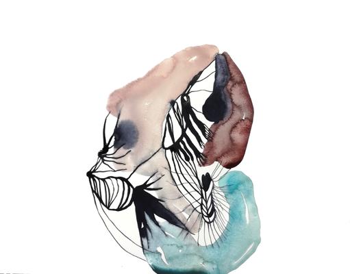 Field, 36 x 48 cm, Aquarellfarbe auf Papier, Susanne Renner, 2017