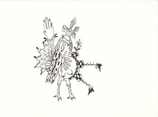 Feels like... , Tuschestift auf Papier, Susanne Renner-Schulz