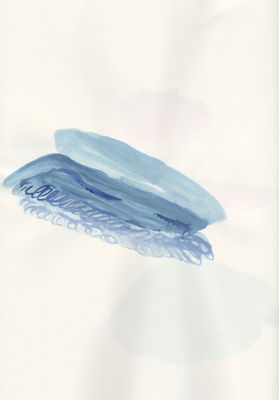 Ohne Titel, 20 x 30 cm, Aquarellfarbe auf Papier, Susanne Renner, 2013